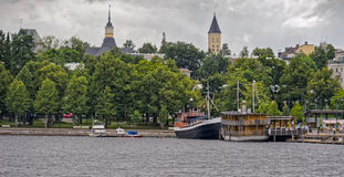 Saimaa and Lappeenranta harbor and town Stock Photography