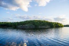 Saimaa. View to an island in lake Saimaa stock photos
