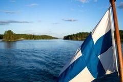 Saimaa. View to an small island in lake Saimaa stock image