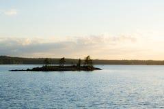 Saimaa. View to an small island in lake Saimaa royalty free stock image