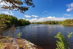 Saimaameer nabijgelegen Lappeenranta Stock Foto's