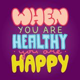 Sain et heureux Images libres de droits