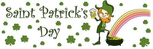 Sain Patricks Tagesfahne Stockfoto