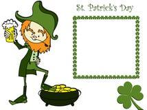 Sain Patricks Tageskarte Lizenzfreie Stockfotos