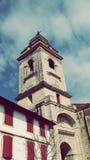 Sain Vincent Church in Urrugne-Dorps Zuid-Frankrijk in Europa Stock Foto's