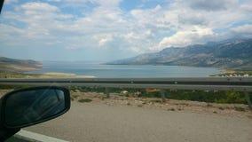 Saindo da ilha Brac da Croácia do wonderfull imagens de stock