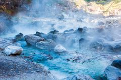 Sainokawara Park hot spring in Kusatsu onsen. Sainokawara Park hot spring is landmark in Kusatsu onsen. Gunma,Japan Stock Images
