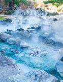 Sainokawara Park hot spring. Sainokawara Park hot spring is landmark in Kusatsu onsen. Gunma,Japan Stock Images