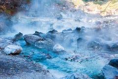 Sainokawara Parkowa gorąca wiosna w Kusatsu onsen obrazy stock