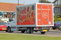 Sainsbury skåpbil Royaltyfri Bild