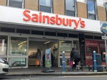Sainsbury sklep zdjęcia stock