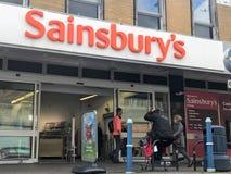Sainsbury sklep obraz royalty free