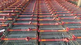 Sainsbury trolley. Uk royalty free stock photo