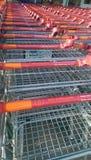 Sainsbury trolley. Uk royalty free stock photography
