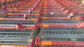 Sainsburykarretje Royalty-vrije Stock Afbeelding