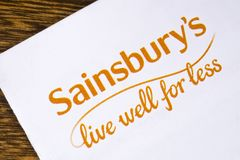 Sainsburys supermarketa logo Fotografia Royalty Free