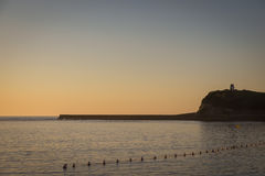 Saint吉恩在夏天日落期间的de Luz 免版税库存照片