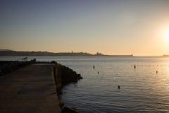 Saint吉恩在夏天日落期间的de Luz 免版税库存图片