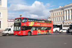 Saint – Petersburg. Russia. People in The City Tour Bus Royalty Free Stock Image