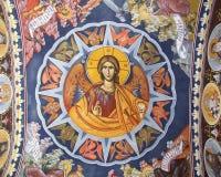 Saint. A saint painting from Radu Voda church in Bucharest Stock Photo