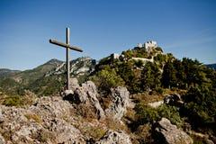 Saint-Agnès do forte nas montanhas Fotos de Stock