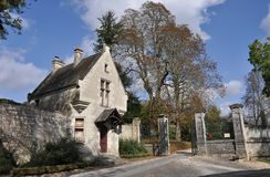 Saint-Agnan castle Royalty Free Stock Photos