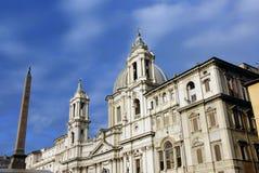 Saint Agnes Basilica and Obeli Royalty Free Stock Photo