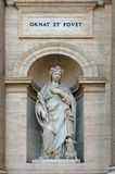 The Historical Museum of the Bersaglieri. Saint Agnes statue - landmark attraction in Rome, Italy Royalty Free Stock Image