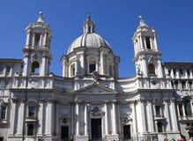 Saint Agnese em Agone na praça Navona, Roma, Itália fotografia de stock