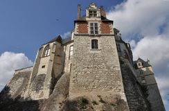 Saint-Aignan castle Stock Images