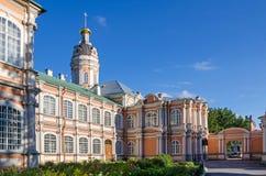 Saint Alexander Nevsky Lavra avec l'église du Princ saint Images libres de droits