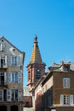 Saint Amans church in Rodez, France stock photos