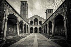 Saint Ambrogio Milan Italy Stock Photography