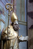 Saint Ambrose. On the main altar of Holy Cross, parish Church of the Immaculate Conception of the Virgin Mary in Lepoglava, Croatia Royalty Free Stock Image