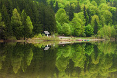 Saint Ana Lake in Romania - House on a lake Royalty Free Stock Images
