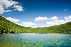 Saint Ana volcanic lake in Romania Royalty Free Stock Photography