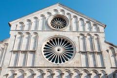 Saint Anastasia Cathedral, Zadar, Croácia foto de stock