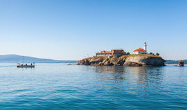 Saint Anastasia Island in Burgas bay, Black Sea Royalty Free Stock Images