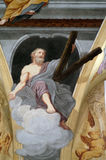 Saint Andrew the Apostle. Fresco painting in the St Nicholas Cathedral in Ljubljana, Slovenia Royalty Free Stock Images
