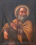 Saint Andrew apostle. Painting on church altar Royalty Free Stock Photos