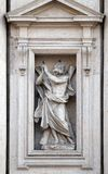 Saint Andrew the Apostle. Statue on the portal of Sant Andrea della Valle Church in Rome, Italy Stock Images