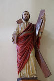 Saint Andrew Apostle. Statue in St Stephen`s Cathedral in Shkoder, Albania Royalty Free Stock Photography