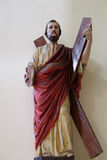 Saint Andrew Apostle. Statue in St Stephen`s Cathedral in Shkoder, Albania Stock Photography