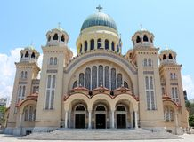 Saint Andrew Basilica of Patras. Saint Andrew (Agios Andreas),  is a Greek Orthodox basilica in  Patras , Greece. Construction of the church, of Greek Royalty Free Stock Photography
