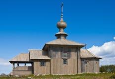 Saint Andrew chapel on Greater Zayatsky island Stock Photo
