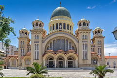 Saint Andrew Church, the largest church in Greece, Patras, Peloponnese, Western Greece. PATRAS, GREECE - MAY 28, 2015: Saint Andrew Church, the largest church in Stock Image