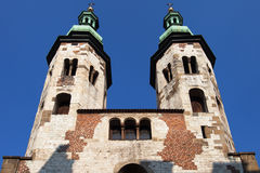 Saint Andrew Church Towers Photographie stock