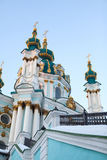 Saint Andrew orthodox church in Kyiv, Ukraine Royalty Free Stock Images
