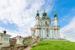 Saint Andrew orthodox church in Kyiv, Ukraine. Stock Images