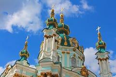 Saint Andrew orthodox church in Kyiv, Ukraine Stock Photo